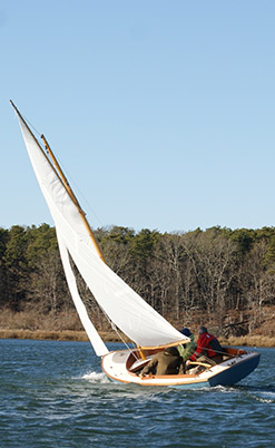 Hurricane 18 foot Gaff-Rigged Sloop, Based on the Cape Dory