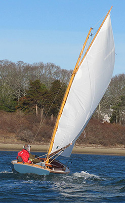 Hurricane 18 foot Gaff-Rigged Sloop, Based on the Cape Dory Typhoon - Pleasant Bay Boat & Spar ...