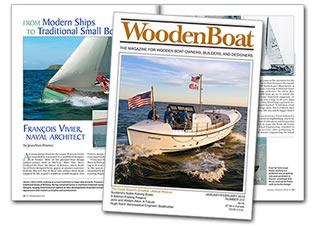 Pleasant Bay Boat & Spar's Restoration of CG 36500 featured on the cover of Wooden Boat magazine.